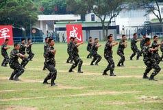 Κινεζικός στρατός στη φρουρά Χονγκ Κονγκ Στοκ Εικόνες