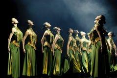 Κινεζικός σύγχρονος χορός ομάδας Στοκ Φωτογραφίες