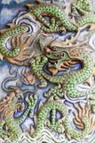 κινεζικός τοίχος ναών μοτίβου δράκων Στοκ Εικόνα