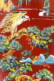 κινεζικός τοίχος ναών τέχνη Στοκ Εικόνα