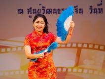 Κινεζικός χορός ανεμιστήρων Στοκ εικόνες με δικαίωμα ελεύθερης χρήσης