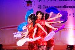 Κινεζικός χορός ανεμιστήρων Στοκ Φωτογραφίες