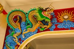 Κινεζικός χρυσός δράκος ύφους στοκ φωτογραφία με δικαίωμα ελεύθερης χρήσης