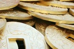 κινεζικός χρυσός νομισμάτων Στοκ Εικόνα