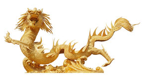 Κινεζικός χρυσός δράκος Στοκ Εικόνες
