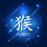 Κινεζικός zodiac πίθηκος σημαδιών Στοκ Φωτογραφία