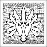 Κινεζικός zodiac δράκος σημαδιών απεικόνιση αποθεμάτων