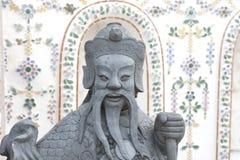 Κινεζικό άγαλμα Θεών, μένουν σε Wat Arun Rajwararam Στοκ Φωτογραφίες