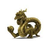 Κινεζικό άγαλμα δράκων στο άσπρο υπόβαθρο στοκ εικόνα