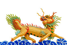 Κινεζικό άγαλμα δράκων ύφους Στοκ Φωτογραφία