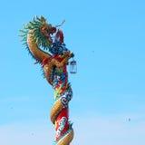 κινεζικό άγαλμα δράκων Στοκ Φωτογραφίες