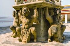 Κινεζικό άγαλμα στο ναό, Μπανγκόκ Στοκ φωτογραφίες με δικαίωμα ελεύθερης χρήσης