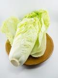 Κινεζικό λάχανο στο πιάτο Στοκ Εικόνες