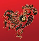 κινεζικό έτος κοκκόρων ω&rho Στοκ Εικόνες
