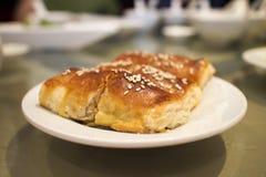 Κινεζικό αμυδρό ποσό - κομματιασμένη ζύμη ρόλων χοιρινού κρέατος Στοκ Εικόνες
