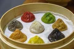 Κινεζικό αμυδρό ποσό - Xiaolongbao Στοκ Φωτογραφίες