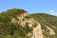 Κινεζικό βουνό με τις πέτρες Στοκ Φωτογραφία