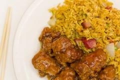 Κινεζικό γενικό tso κοτόπουλο Στοκ Εικόνες