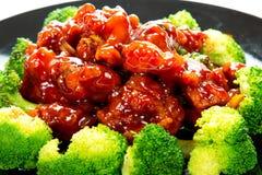 Κινεζικό γενικό tso τροφίμων κοτόπουλο (κοτόπουλο στρατηγού Chang's) Στοκ εικόνα με δικαίωμα ελεύθερης χρήσης