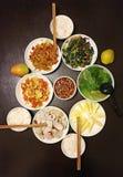 Κινεζικό γεύμα για την οικογένεια τρία Στοκ φωτογραφία με δικαίωμα ελεύθερης χρήσης