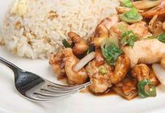 κινεζικό γεύμα κοτόπουλ&o Στοκ φωτογραφία με δικαίωμα ελεύθερης χρήσης