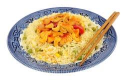 Κινεζικό γεύμα κοτόπουλου Kung Po Στοκ εικόνα με δικαίωμα ελεύθερης χρήσης
