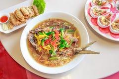Κινεζικό γεύμα πιάτων ψαριών ύφους Στοκ εικόνα με δικαίωμα ελεύθερης χρήσης