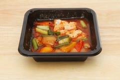 Κινεζικό γεύμα σε ένα χαρτοκιβώτιο Στοκ φωτογραφία με δικαίωμα ελεύθερης χρήσης