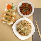 Κινεζικό γεύμα combo για 2-3 ανθρώπους στοκ εικόνα