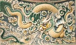 Κινεζικό γλυπτό δράκων στο κτύπημα PA στο βασιλικό παλάτι Στοκ Εικόνες