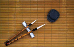 κινεζικό γράψιμο βουρτσώ&nu Στοκ Φωτογραφία