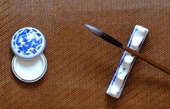 κινεζικό γράψιμο βουρτσώ&nu Στοκ εικόνα με δικαίωμα ελεύθερης χρήσης