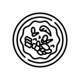 Κινεζικό διάνυσμα εικονιδίων τροφίμων που απομονώνεται στο άσπρο υπόβαθρο, κινεζικό σημάδι τροφίμων ελεύθερη απεικόνιση δικαιώματος