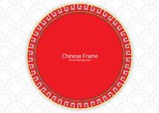 Κινεζικό εκλεκτής ποιότητας πλαίσιο Στοκ Φωτογραφίες