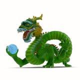 κινεζικό λευκό δράκων ανασκόπησης στοκ εικόνες