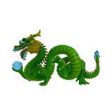 κινεζικό λευκό δράκων ανασκόπησης απεικόνιση αποθεμάτων