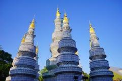 Κινεζικό ζωηρόχρωμο φανάρι πύργων Στοκ φωτογραφίες με δικαίωμα ελεύθερης χρήσης