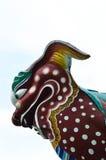 Κινεζικό ζωικό άγαλμα στην κινεζική στέγη Στοκ φωτογραφία με δικαίωμα ελεύθερης χρήσης