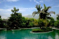 Κινεζικό διάσημο φυσικό σημείο Chongqing East Hot Springs Spa τουριστών ουράνια Στοκ Εικόνες