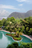 Κινεζικό διάσημο φυσικό σημείο Chongqing East Hot Springs Spa τουριστών ουράνια Στοκ φωτογραφία με δικαίωμα ελεύθερης χρήσης