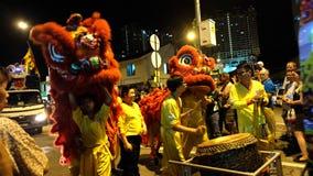 κινεζικό λιοντάρι χορού Στοκ εικόνες με δικαίωμα ελεύθερης χρήσης