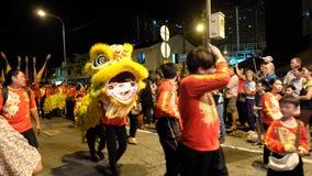 κινεζικό λιοντάρι χορού Στοκ φωτογραφίες με δικαίωμα ελεύθερης χρήσης