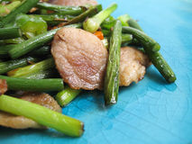 Κινεζικό καθημερινό τηγανισμένο τρόφιμα χοιρινό κρέας Στοκ εικόνες με δικαίωμα ελεύθερης χρήσης