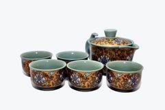 κινεζικό καθορισμένο τσά&io Στοκ εικόνα με δικαίωμα ελεύθερης χρήσης