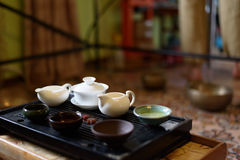 Κινεζικό κεραμικό κύπελλο στοκ φωτογραφία με δικαίωμα ελεύθερης χρήσης