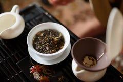 Κινεζικό κεραμικό κύπελλο στοκ εικόνες με δικαίωμα ελεύθερης χρήσης