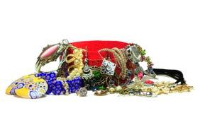 Κινεζικό κιβώτιο με τα jewelries Στοκ Φωτογραφίες