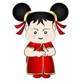 Κινεζικό κορίτσι κινούμενων σχεδίων Στοκ εικόνα με δικαίωμα ελεύθερης χρήσης