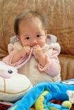 κινεζικό κορίτσι μωρών Στοκ Φωτογραφία