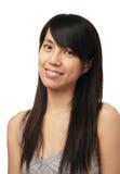 Κινεζικό κορίτσι χαμόγελου Στοκ εικόνα με δικαίωμα ελεύθερης χρήσης